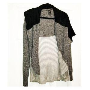 Lucky brand cardigan black grey